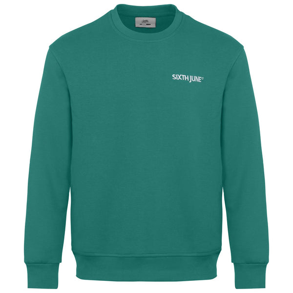 Soft embroidered logo sweatshirt Green