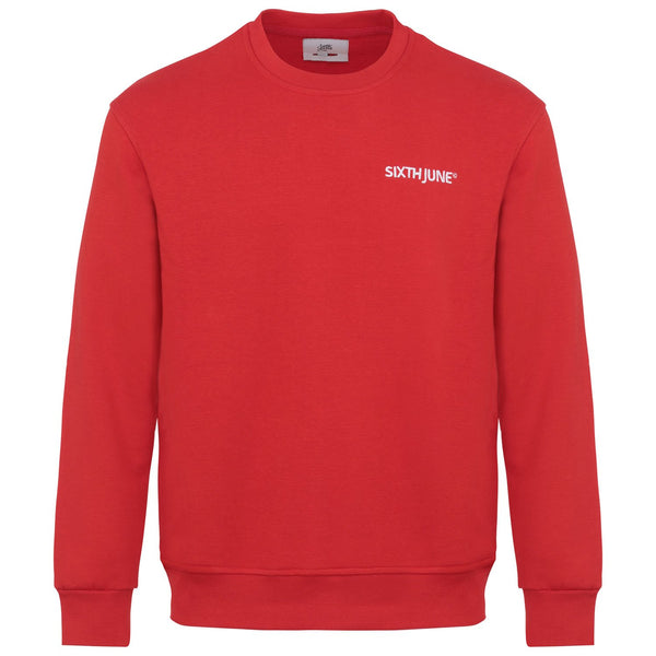 Sweatshirt soft logo brodé Rouge