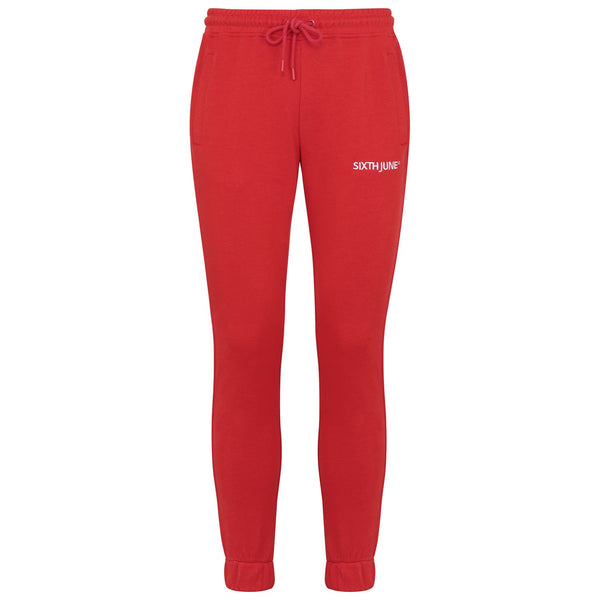 Jogging soft logo brodé Rouge