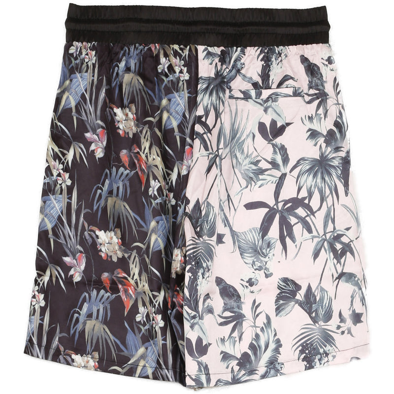 Short bicolore jungle rose noir