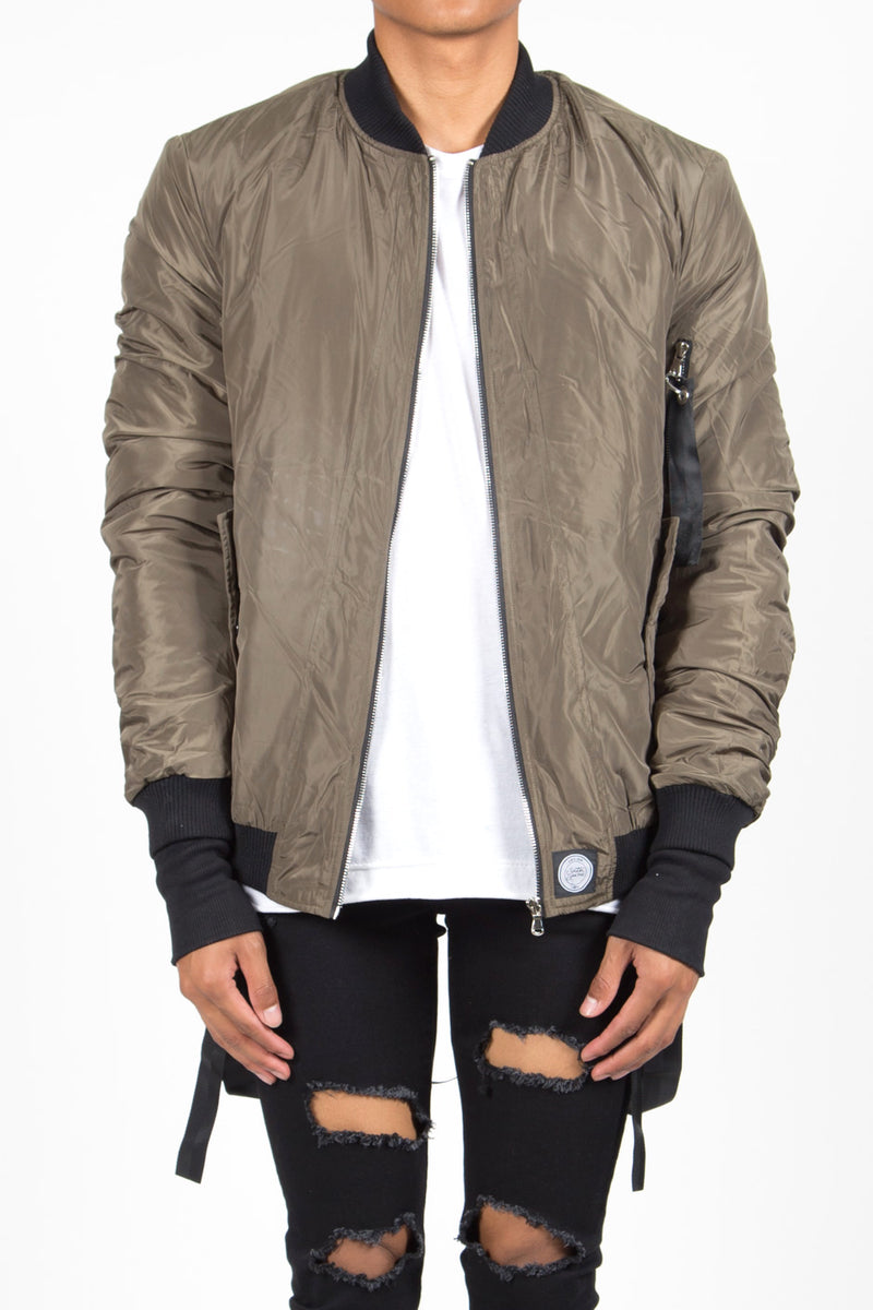 Bomber Sixth June Junior kaki 1365C