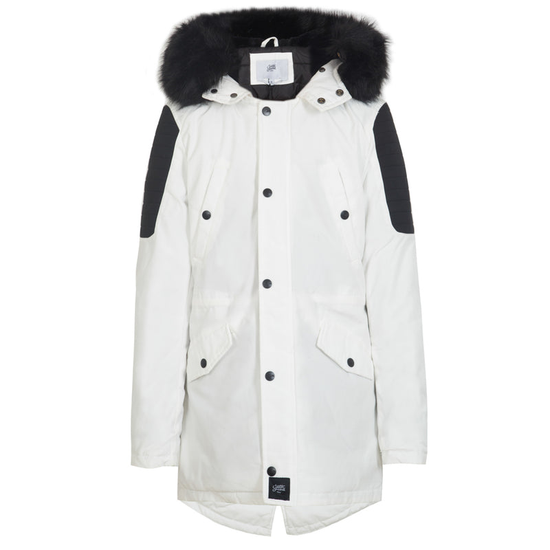 parka in polycotton with biker