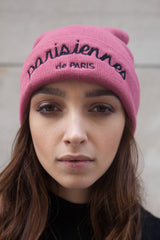 Bonnet Parisiennes de Paris rose