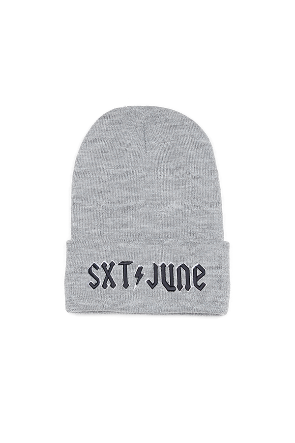 Bonnet brodé SXT JUNE gris