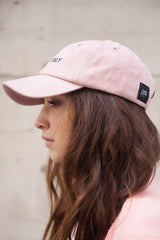 Casquette suède Crew Only rose