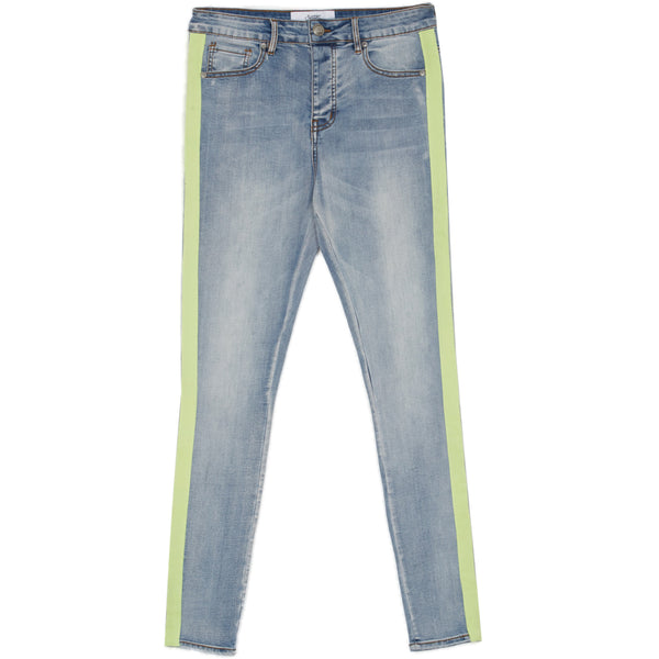 denim with fluo bands