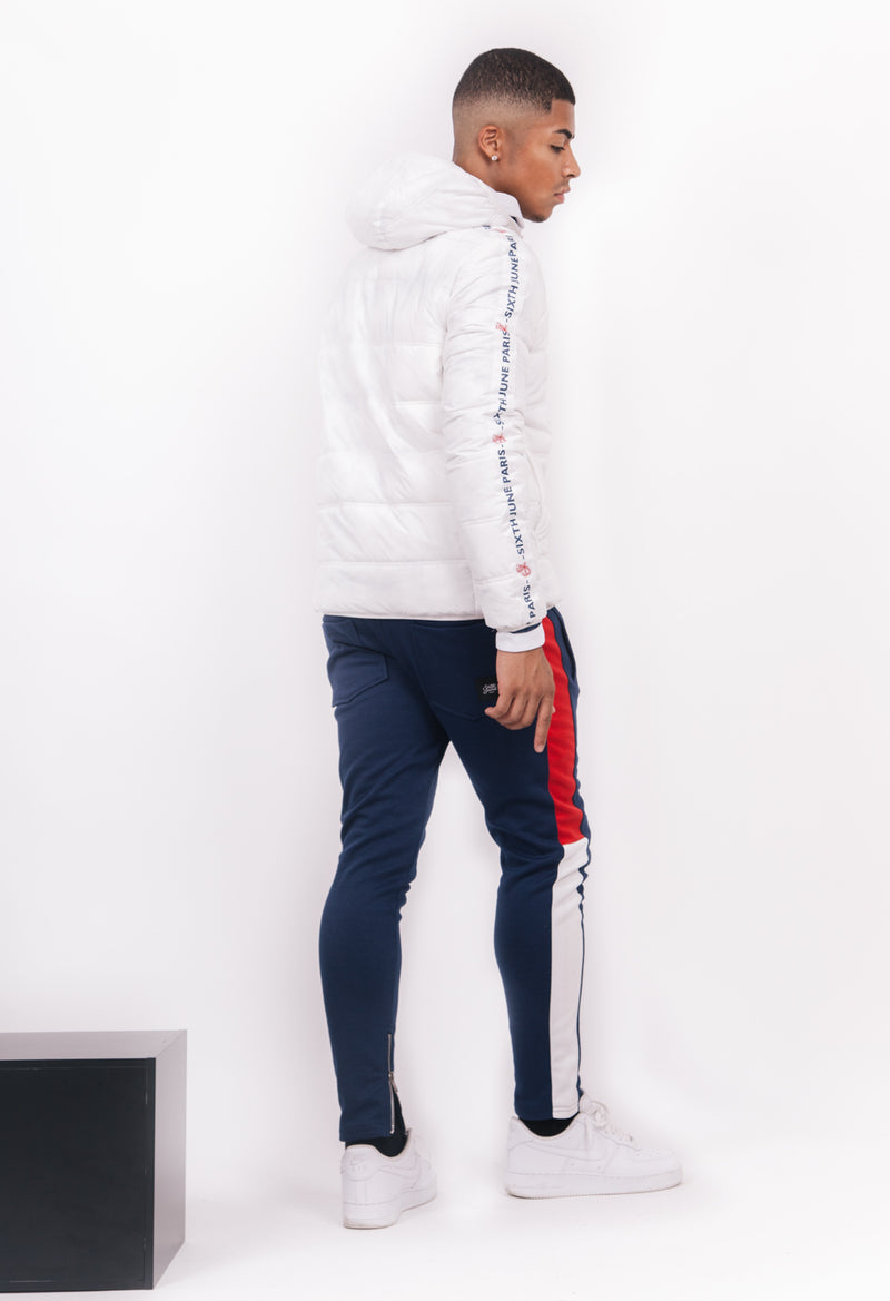 Puffer Jacket Branded Tape White