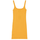 Robe bretelle jaune