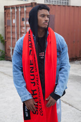 Echarpe oversize Fall Winter 2017 rouge