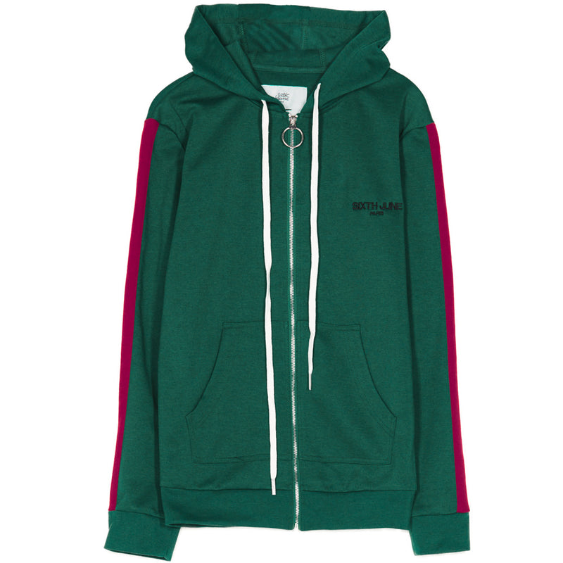 hoodie zipped with plain tapes