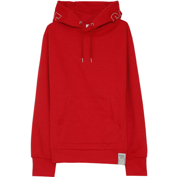 Sweat capuche broderie logo rouge