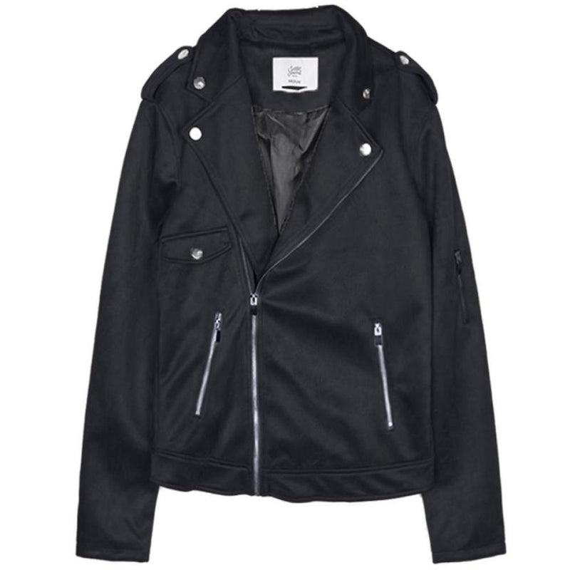 Jacket perfecto suede Sixth June black M2646VJA