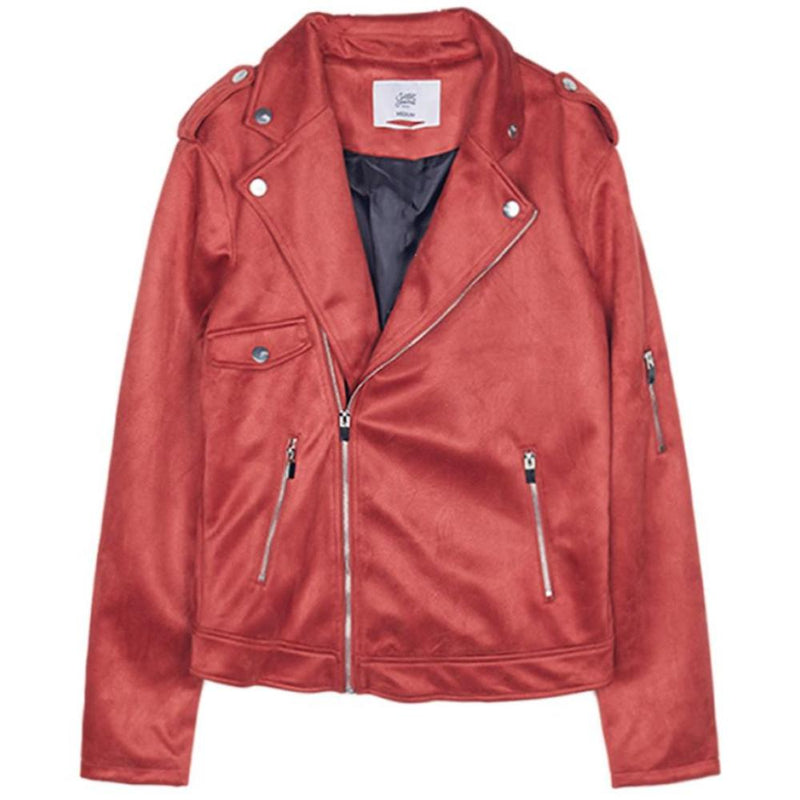 Jacket perfecto suede Sixth June red M2646VJA