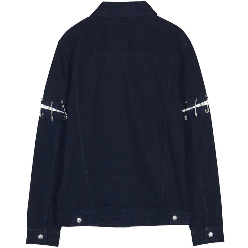 Destroyed Safety Pins Jacket Black