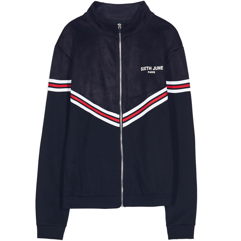 trackjacket with bicolor bands