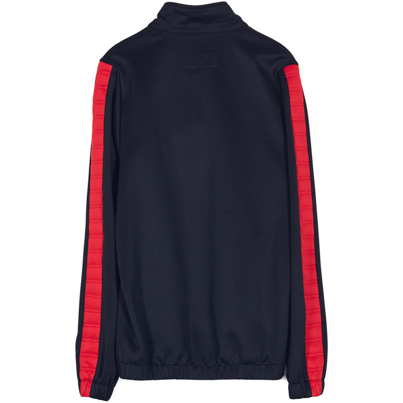Padded Sleeve Taping Trackjacket Black Red