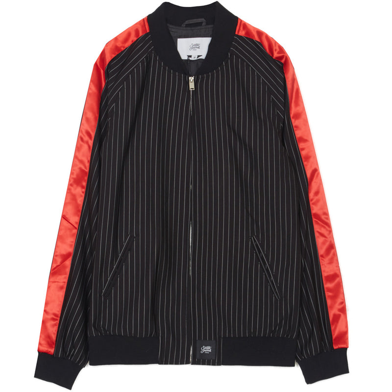 stripes baseball jacket
