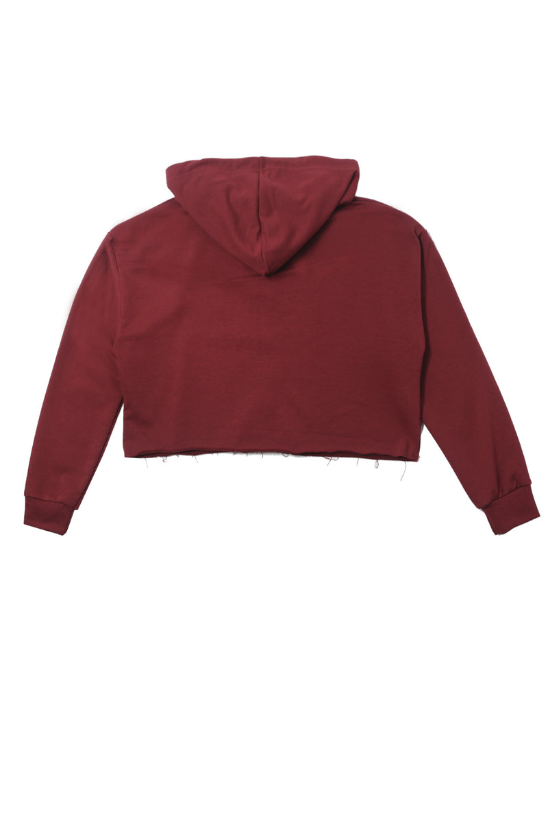 Sweat capuche zippé Sport bordeaux W2411VJA