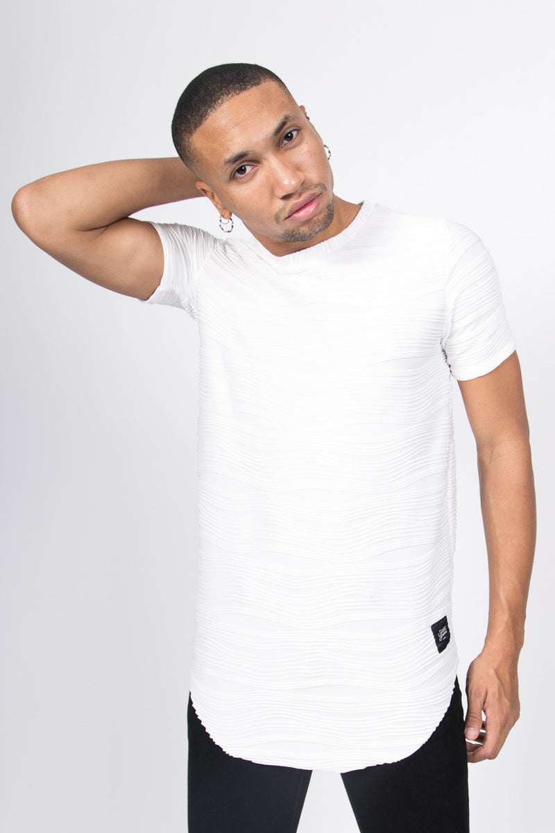 T-shirt relief blanc 1118V