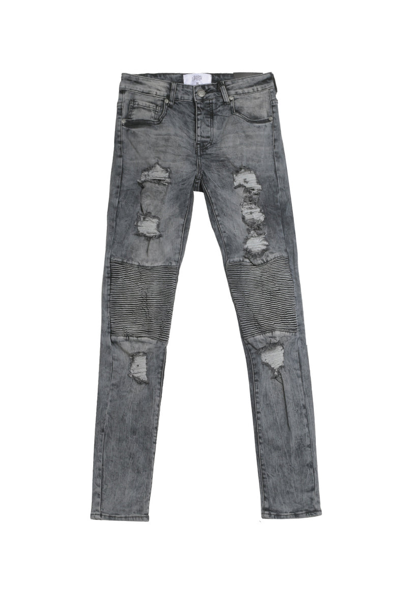 Jean biker Sixth June destroy bleu M2301HDE