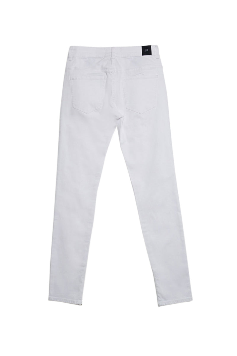 Denim ankle zipper white M2457HDE