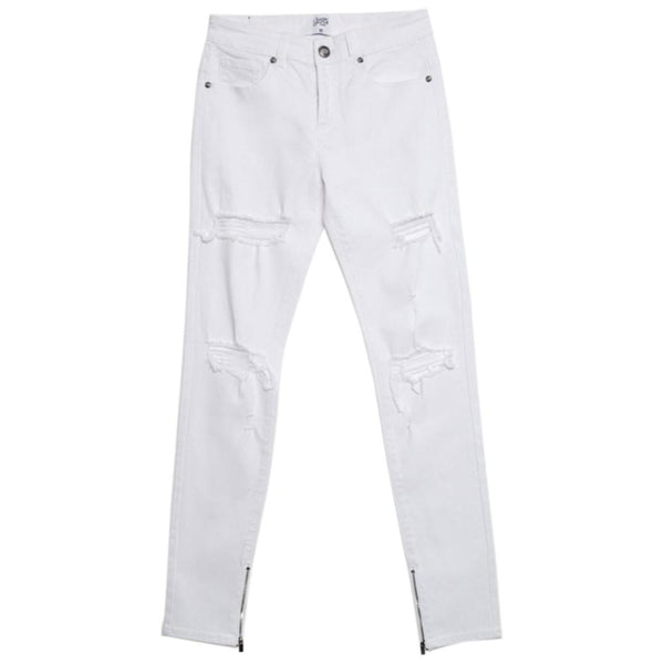 Denim ankle zipper Sixth June white M2457HDE