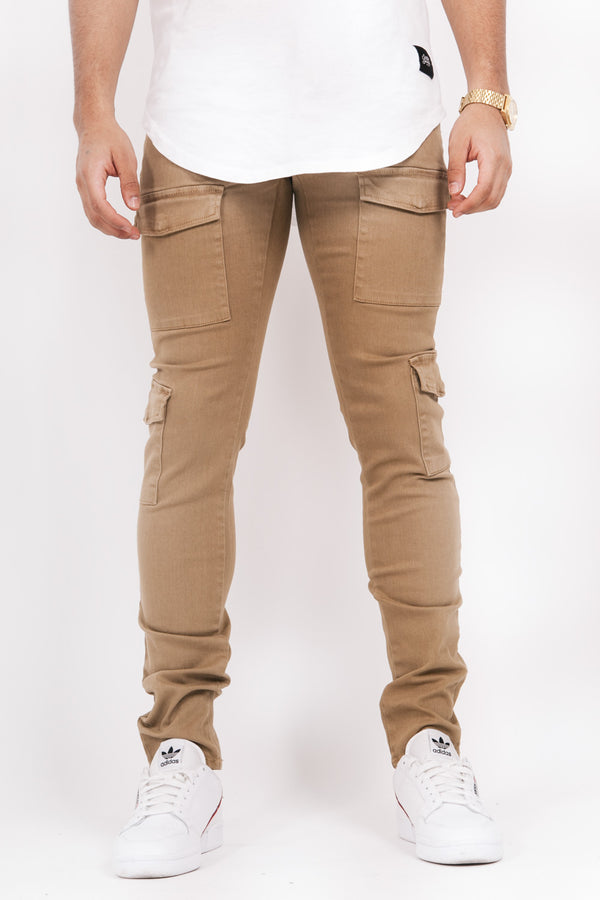 Denim cargo pockets Sixth June sand M2467HDE