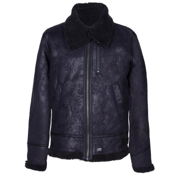 Veste aviateur revers faux mouton Sixth June noir