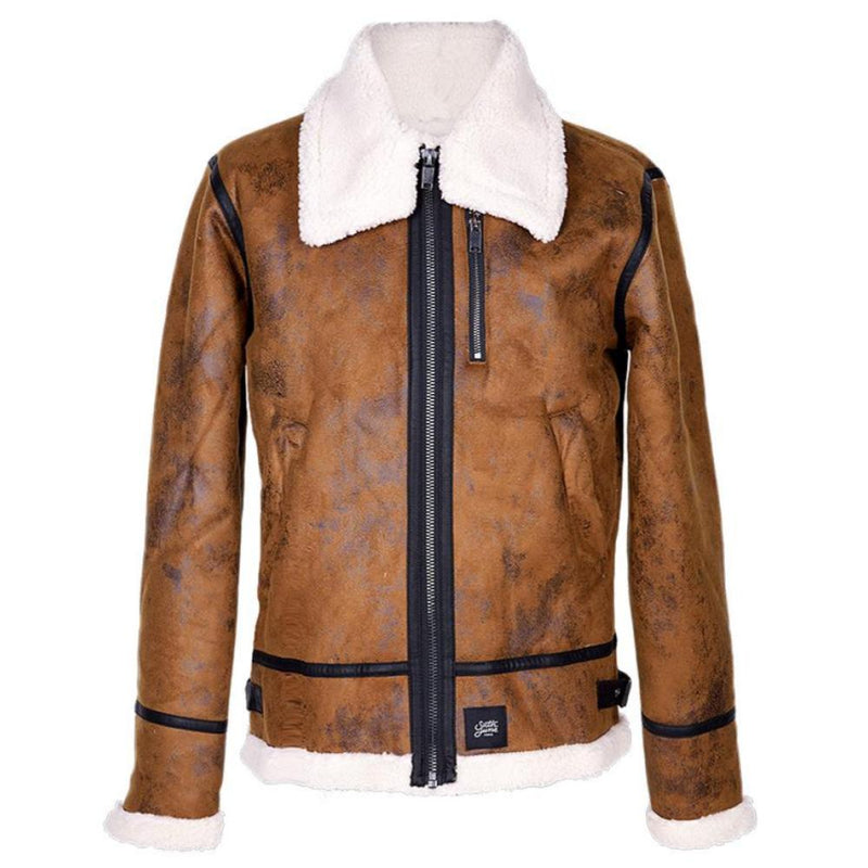 Veste aviateur revers faux mouton Sixth June marron
