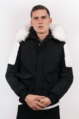 short parka with rib + biker