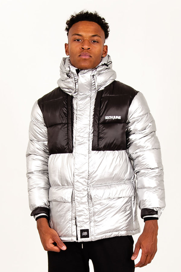 Tactical silver down jacket black