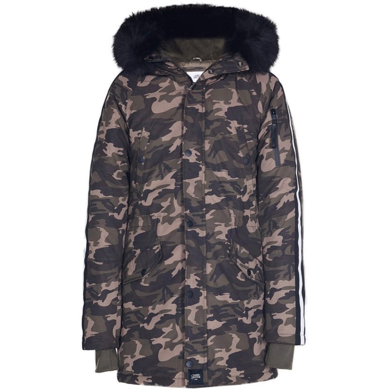 parka in polycotton with bands