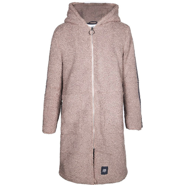 coat in sherpa with hood
