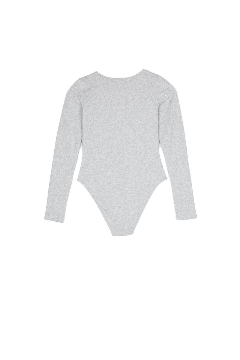 Body manches longues logo gris clair