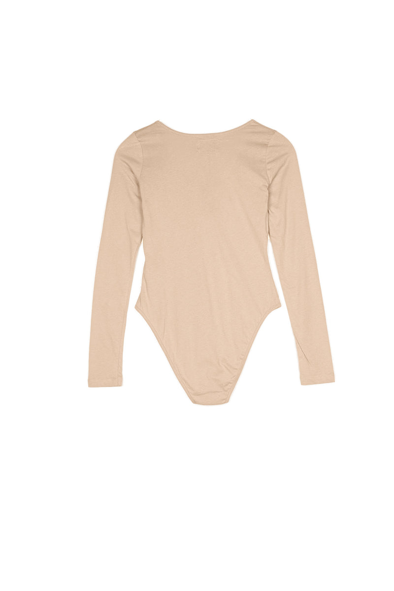 Body manches longues logo beige