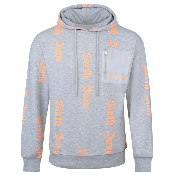 All over gothic sweatshirt grey