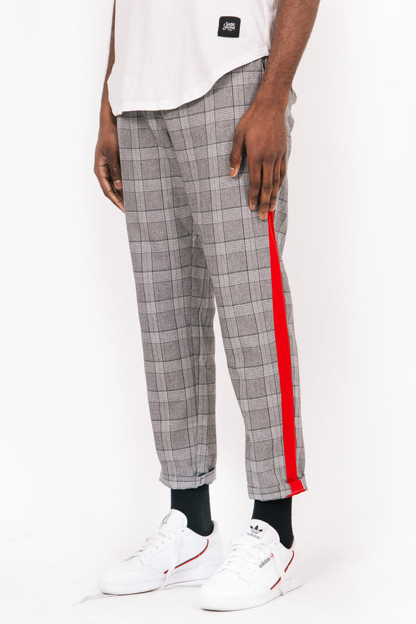 Prince Of Wales Trousers Grey Red