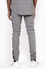 Prince Of Wales Taped Joggers Grey