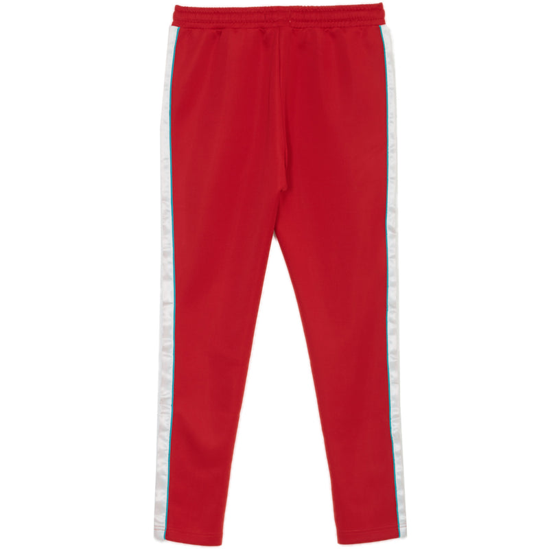 Satin Bands Joggers Red