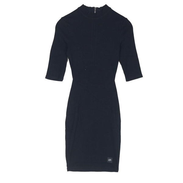 3/4 sleeve tight dress ribbed fabric