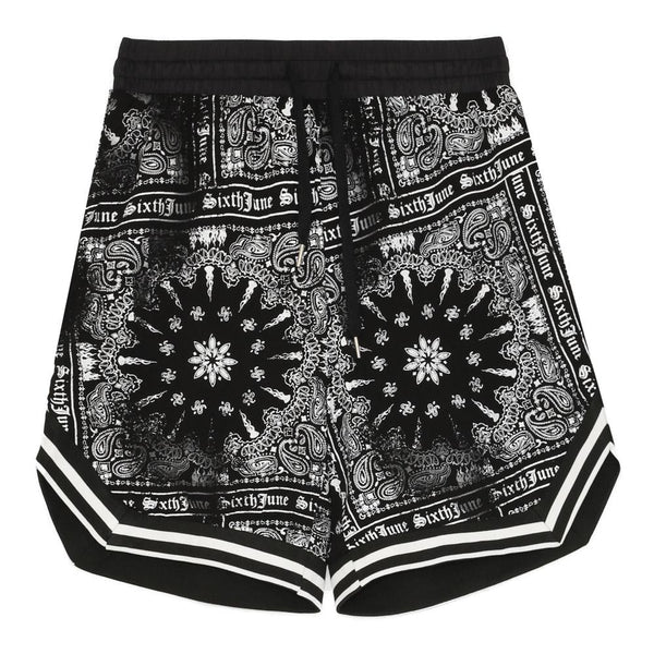 Short imprimé bandana all-over noir