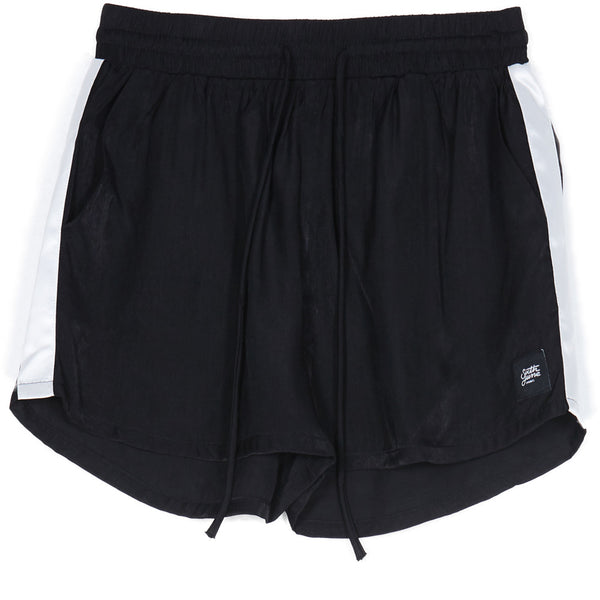 satin short with bands