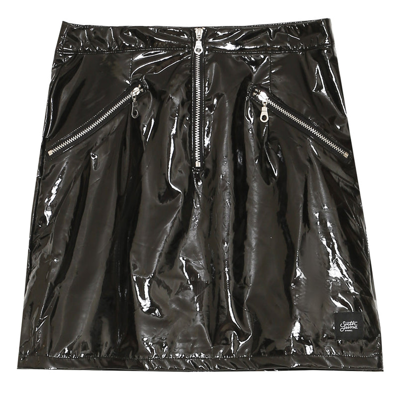 Logo Vinyl Skirt Black
