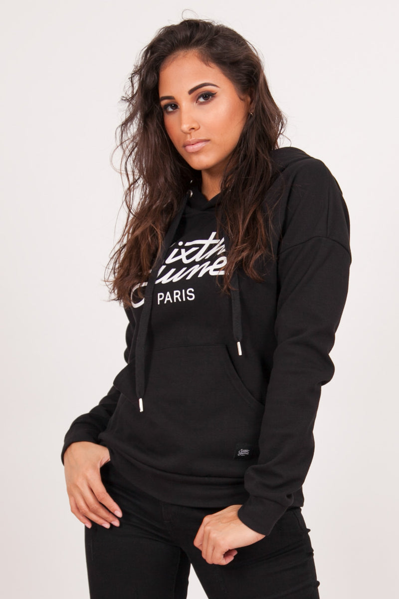 Sweat capuche logo noir