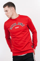 Sweatshirt logo université rouge