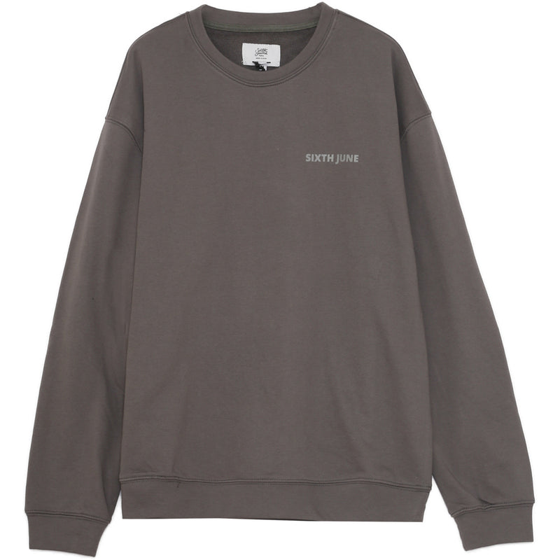 printed bands logo sweatshirt grey