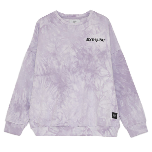 Sweat tie and dye violet