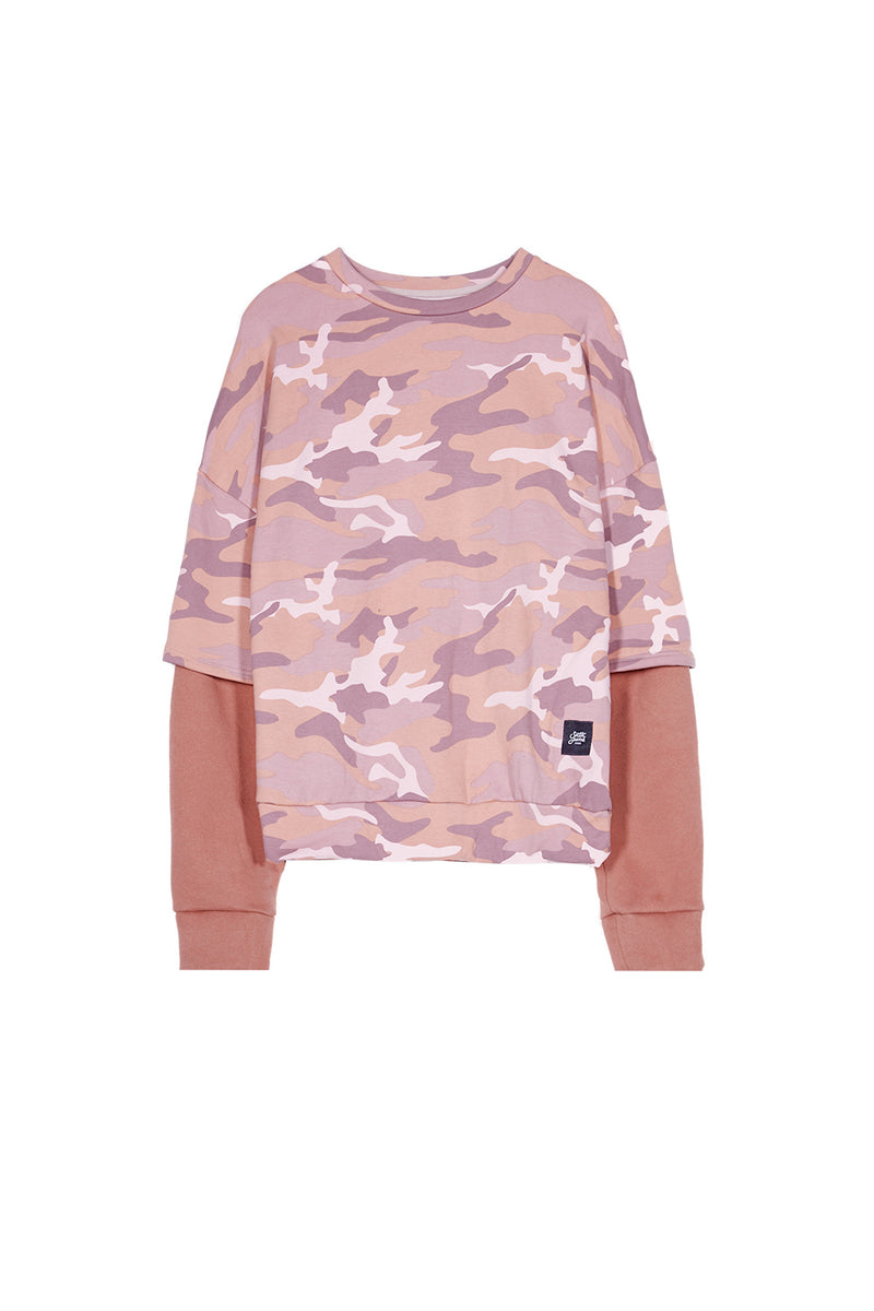 Sweat camouflage large Sixth June rose