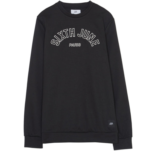 Sweatshirt logo université noir