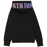 Iridescent print sweatshirt black